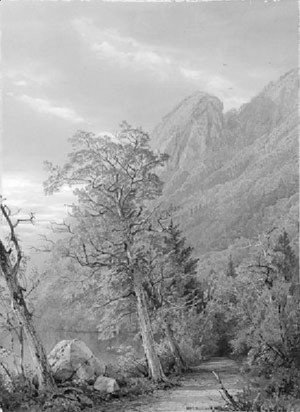 William Trost Richards - Eagle's Nest, Franconia Notch
