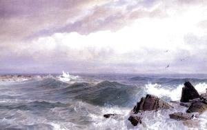 William Trost Richards - Gull Rock, Newport, Rhode Island