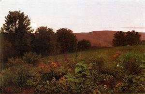 William Trost Richards - Sunset on the Meadow