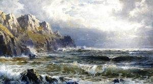 William Trost Richards - Moye Point, Guernsey, Channel Islands