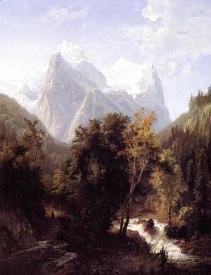 William Trost Richards - Path Through the Mountains