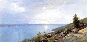 William Trost Richards - Sunrise over Schoodic