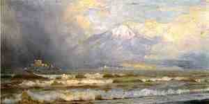 William Trost Richards - Vesuvius in winter