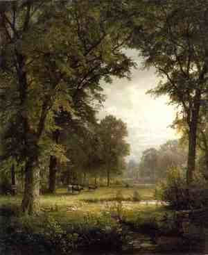 William Trost Richards - Idyllic Landscape