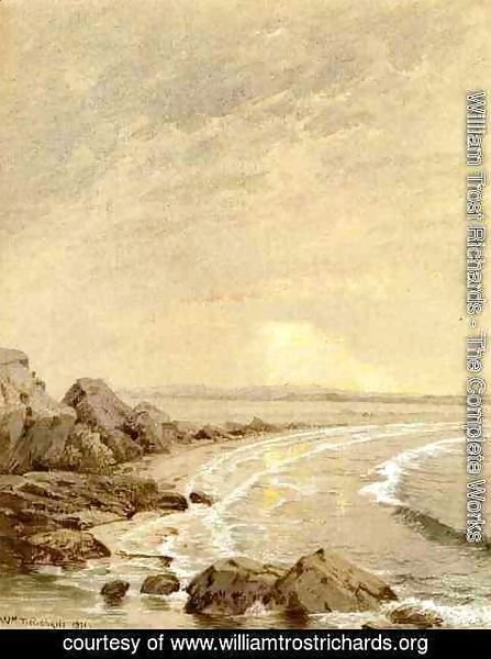 William Trost Richards - Breaking Sun, Rhode Island Coast