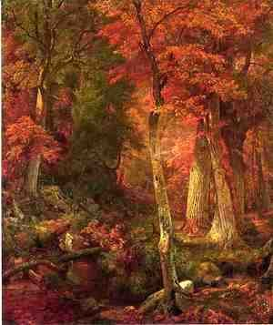 William Trost Richards - Forest Interior in Autumn