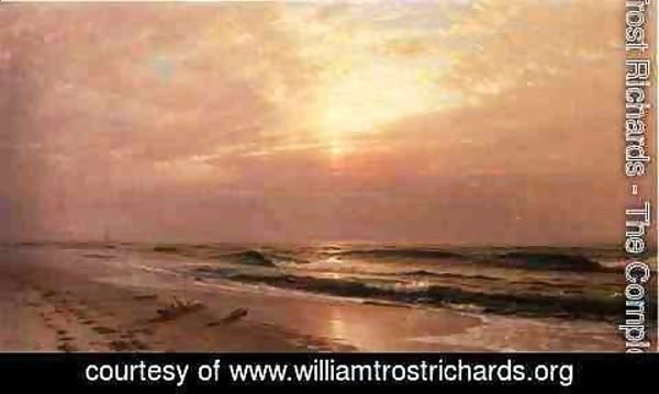 William Trost Richards - Seascape at Sunset