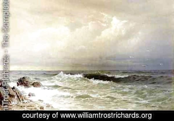 William Trost Richards - Off the Coast of Rhode Island