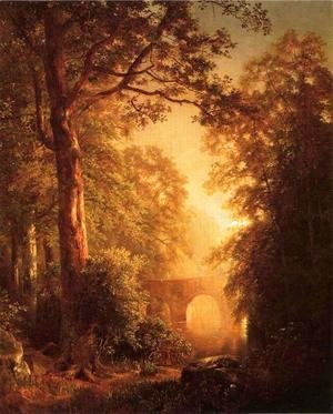 William Trost Richards - The Arched Bridge