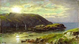 William Trost Richards - The Harbor at Monhegan
