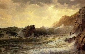 William Trost Richards - Breaking Waves