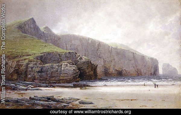 Fisherman on the Shore, Trebarwith Strand, Cornwall