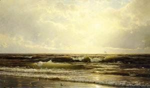 William Trost Richards - Distant Sails at Dusk