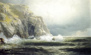 William Trost Richards - Guernsey Cliffs, Channel Islands