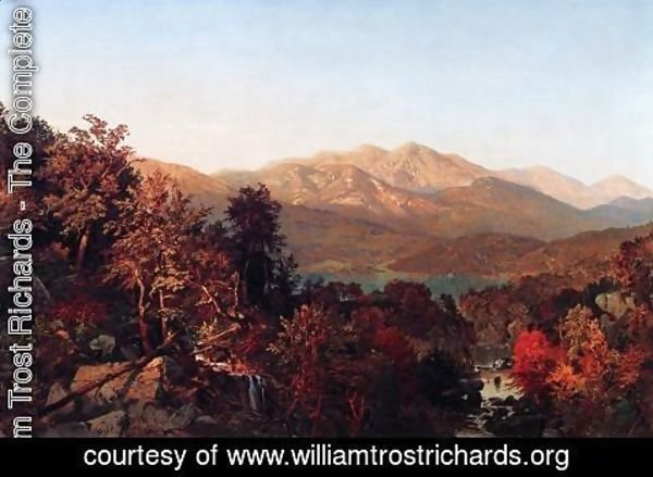 William Trost Richards - Autumn in the Adirondacks I