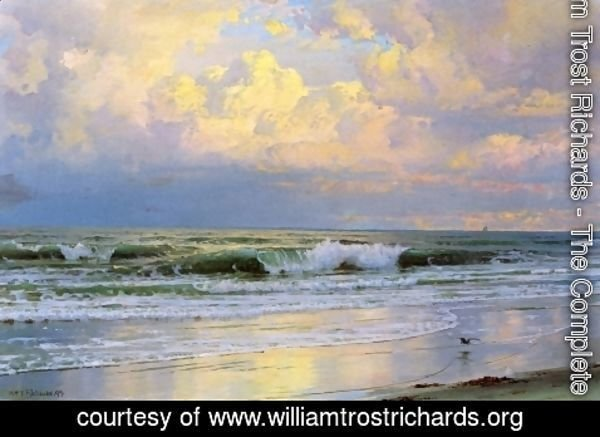 William Trost Richards - Breaking Waves I