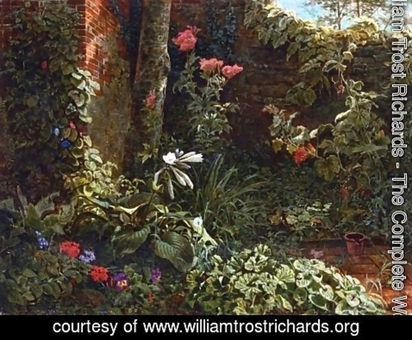 William Trost Richards - The Neglected Garden