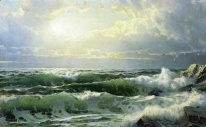 William Trost Richards - Breaking Waves II