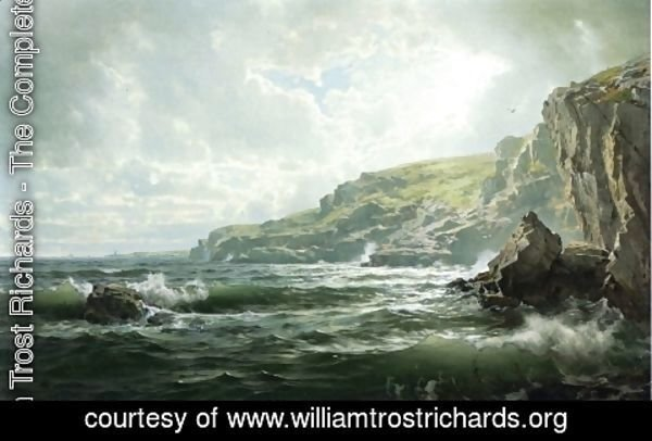William Trost Richards - Crashing Waves