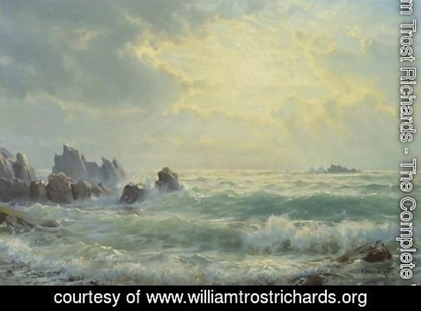 William Trost Richards - Sunrise at the Shore