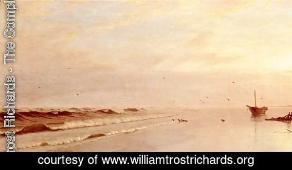 William Trost Richards - On the Shore 1871