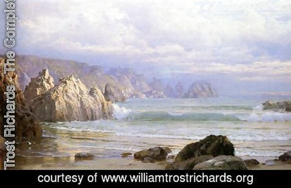 William Trost Richards - Seascape Along the Cliffs Date unknown