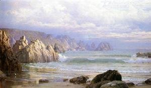 Seascape Along the Cliffs Date unknown