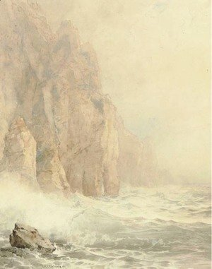 William Trost Richards - Cathedral Rocks, Achill Island, Ireland