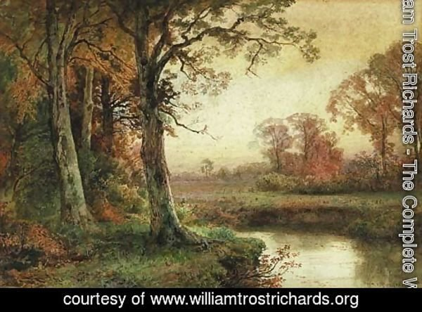 Landscape with Stream in Autumn