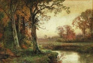 William Trost Richards - Landscape with Stream in Autumn