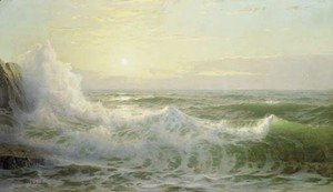 William Trost Richards - Sunlit Waves