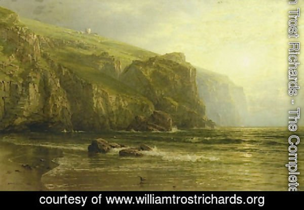 William Trost Richards - Sunset Along the Coast of Cornwall