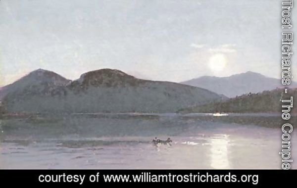William Trost Richards - Two Boaters on a Lake
