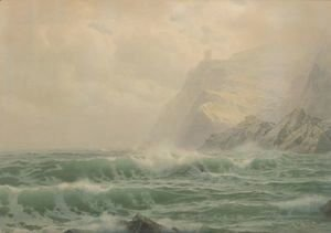 William Trost Richards - Sea, Rock, And Mist