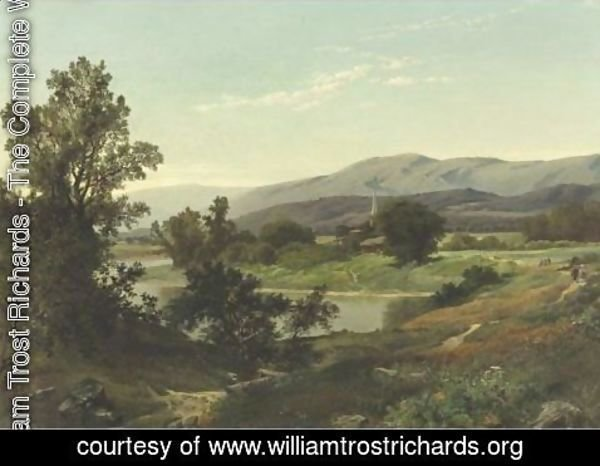 William Trost Richards - A Sunny Morning Stroll In The Country
