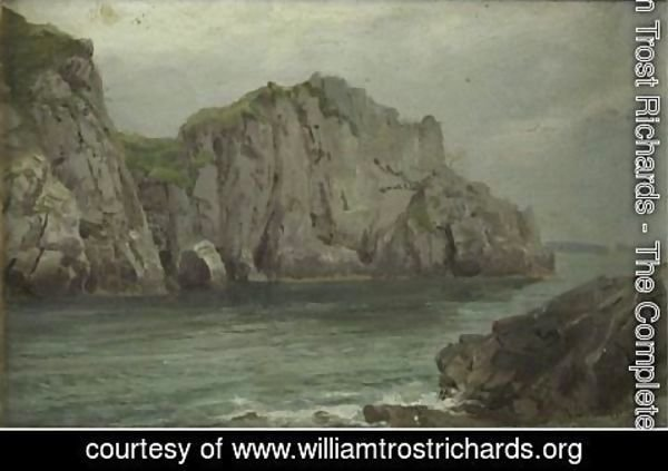 William Trost Richards - Cliffs By The Sea