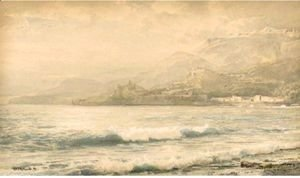 William Trost Richards - Seascape, Italy