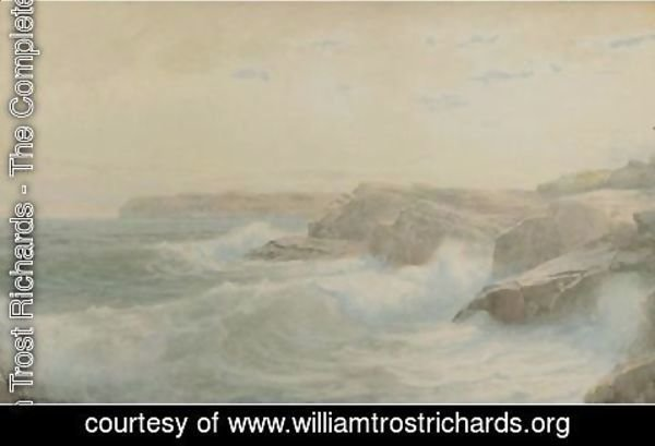 William Trost Richards - Breaking Waves 3