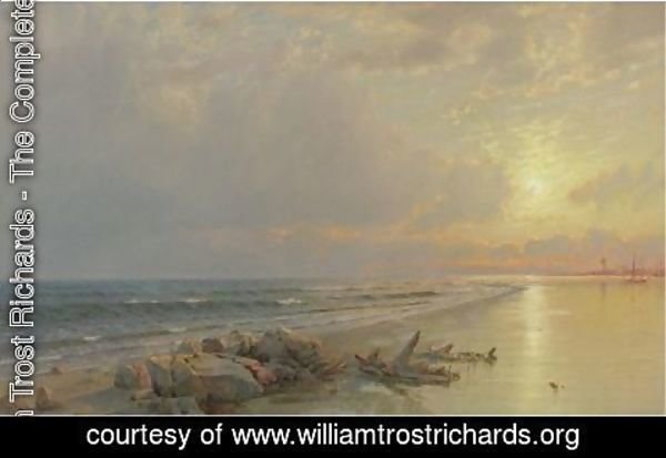 William Trost Richards - Sunset On The New Jersey Coast