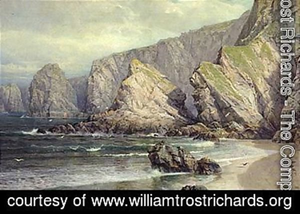 William Trost Richards - A view of Cornwall 1880