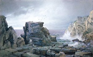 William Trost Richards - A Rocky Coast