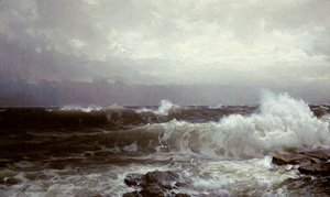 William Trost Richards - Breakers At Beaver