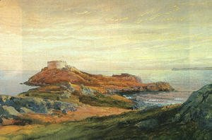 William Trost Richards - Fort Dumpling  Jamestown