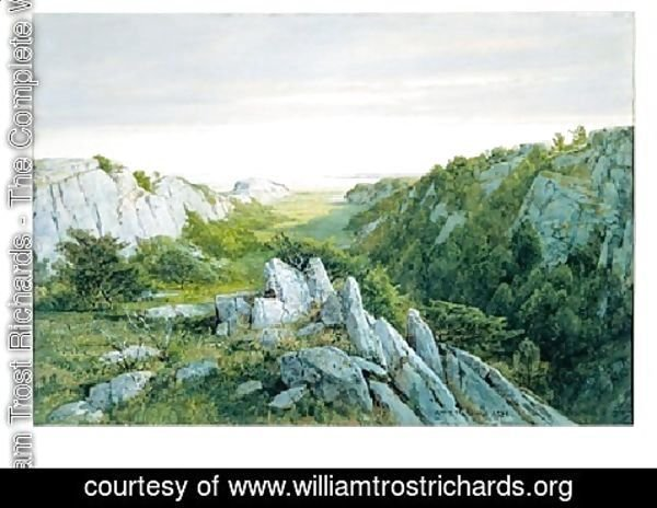 William Trost Richards - From Paradise To Purgatory  Newport