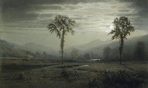 William Trost Richards - Moonlight On Mount Lafayette  New Hampshire2
