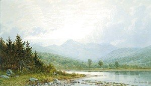 William Trost Richards - Sunset On Mount Chocorua  New Hampshire