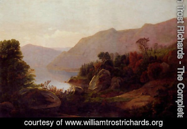 William Trost Richards - A Mountainous Lake Landscape