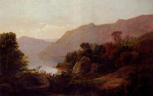 A Mountainous Lake Landscape