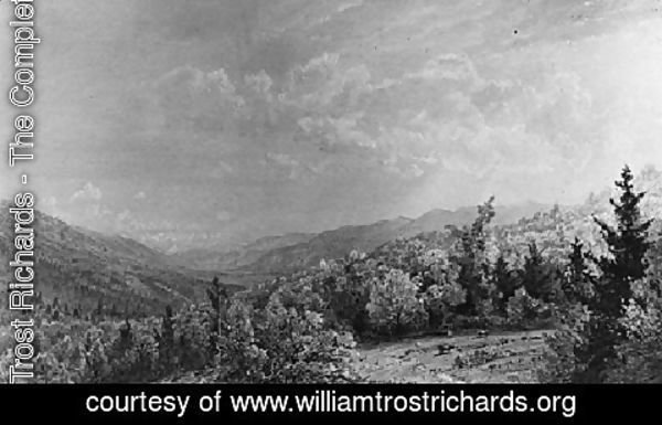 William Trost Richards - From The Flume House  Franconia  New Hampshire