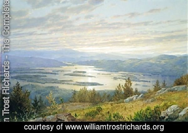 William Trost Richards - Lake Squam And The Sandwich Mountains